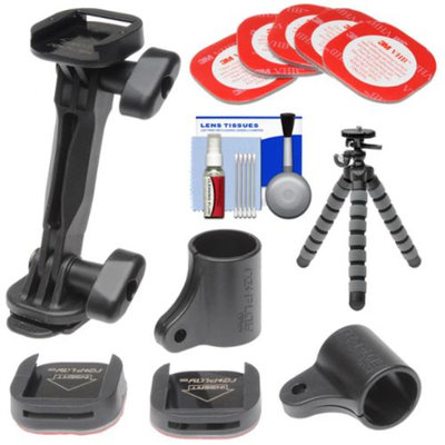 Replay XD Mixed Tilt Mount Kit with 3M Mount Adhesive + Flex Tripod + Accessory Kit for Replay XD 1080 Mini, XD 1080, XD 720 Action POV Camcorders