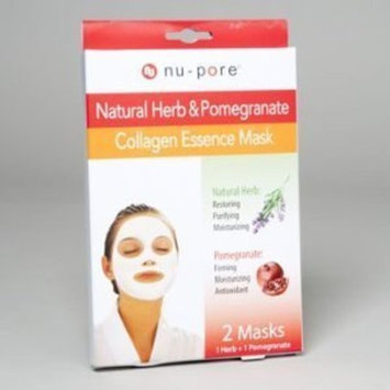 DDI nu-pore NATURAL HERB & POMEGRANATE COLLAGEN ESSENCE MASK 2 Mask 1 Natural Herbal And 1 Pomegranate
