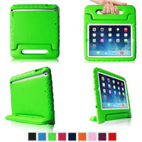 Fintie Light Weight Shock Proof Convertible Handle Stand Cover Case Kids Friendly for Apple iPad Air / iPad 5, Green