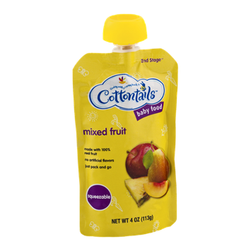 Cottontails 2nd Stage Squeezable Baby Food Mixed Fruit