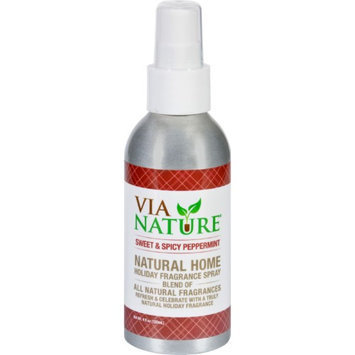 Via Nature Room Spray - Holiday - Sweet and Spicy Peppermint - 4 oz