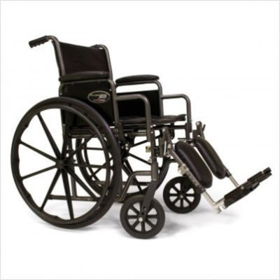 E & J Everest & Jennings Traveler SE Wheelchair 16 X 16 Detachable Desk Arm, Elevating Legrest