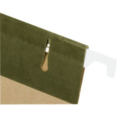Staples® Recycled Reinforced Hanging File Folders, 5-Tab, Letter, Standard Green, 25/Box (16403)