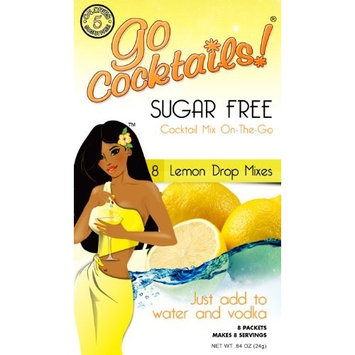 Go Cocktails! Sugar Free On The Go Lemon Drop Mixes, 8-Count Single Servings