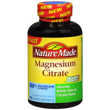 Nature Made Magnesium Citrate 125 mg, Softgels, 120 ea