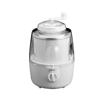 Deni 5205 Fully Automatic 1-1/2-Quart Ice-Cream Maker with Candy Crusher, White