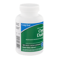 CareOne Men's Health One Daily Multivitamin/Multimineral Tablets - 100 CT