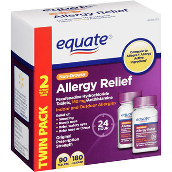 Perrigo Equate Allergy Relief Twin Pack 180mg