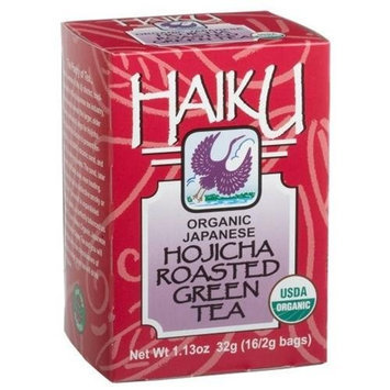 Haiku Japanese Hojicha Roasted Green Tea, 100% Organic, 16-Count Tea Bags (Pack of 6)