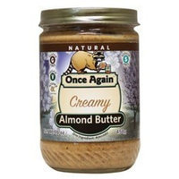 Once Again Smooth Almond Butter, Non Salted 16 oz. (Pack of 12)