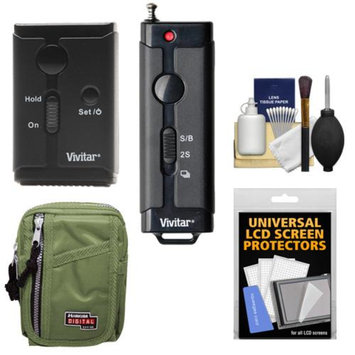 Vivitar Universal Wireless and Wired Shutter Release Remote Control with Travel Case + Accessory Kit