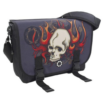 Dadgear DadGear Messenger Diaper Bag - Skull & Flames