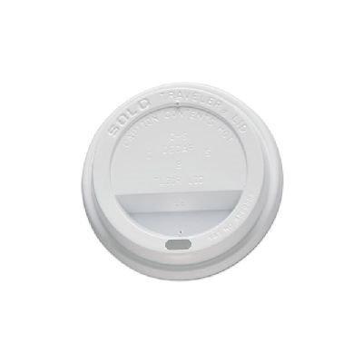 Solo Inc. Cup Lids Solo Traveler Drink-Thru Lids, 10oz Cups, White