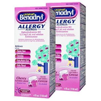 Benadryl Allergy Relief Cherry Liquid for Children - 2 Pack (4 oz