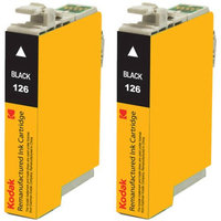 eReplacements T126120-D2-KD Kodak - 2-pack - High Yield - black - remanufactured - ink cartridge ( equivalent to: Epson T126120 )