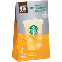 Starbucks Coffee Via Refreshers, Valencia Orange, 6 ea