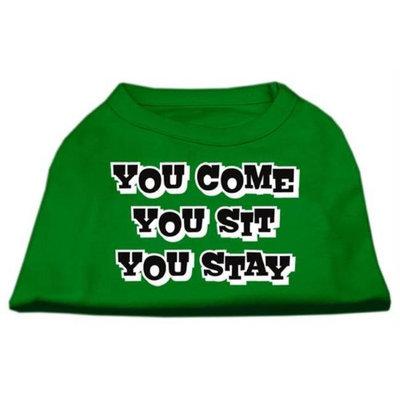 Ahi You Come You Sit You Stay Screen Print Shirts Emerald Green XL (16)
