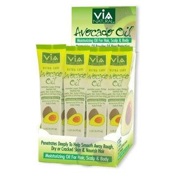 VIA Natural Ultra Care Avocado Oil Concentrated Natural Oil 1.5oz - Promotes Longer, Stronger, Healthier Hair [Avocado Oil]