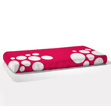 Nook Sleep Systems FIT-STP-BLS Fitted Crib Sheet in Stepping Stone Blossom (Bright Pink)