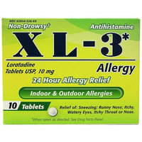 Midway XL-3 24 Hour Allergy Relief Tablets, 10 count