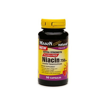 Mason Natural Niacin 750mg FLUSH FREE