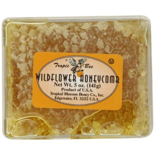 Tropic Bee Wildflower Honeycomb, 5-Ounce Boxes (Pack of 4)