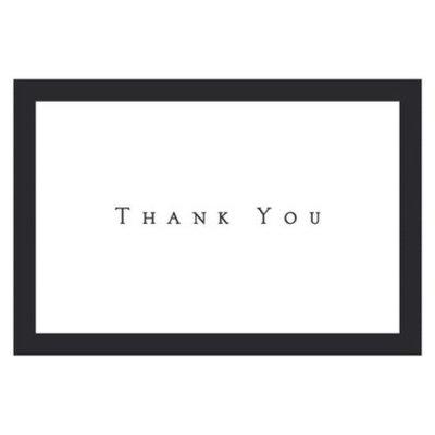 Hortense B. Hewitt Tuxedo Thank You Note Cards - Black/White