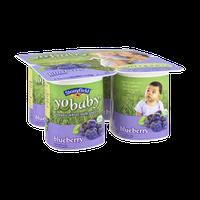 Stonyfield Organic YoBaby Babies 6mos+ Blueberry Whole Milk Yogurt - 4 PK