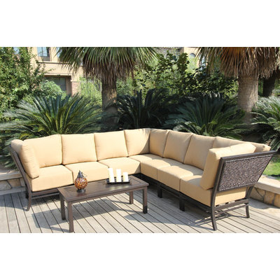 Bellini Monterey 8 Piece Sectional Deep Seating Group with Cushion
