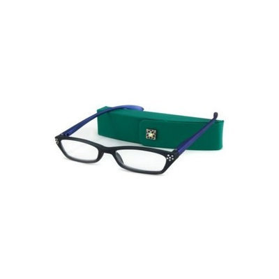 UrbanSpecs Readers Reading Glasses - BRU25 Crystal Dark Green with Blue / BRU25 GREEN +1.50