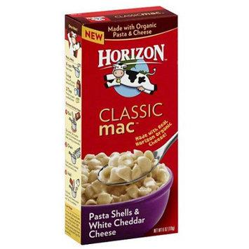 Horizon Classic Mac Pasta Shells & White Cheddar Cheese, 6 oz, (Pack of 12)