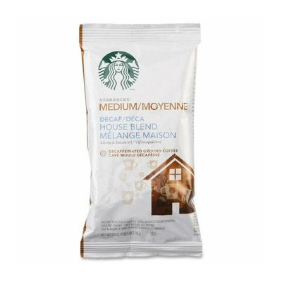 Starbucks 11018191 Coffee Decaf House Blend 2.5 oz Pack 18/BX