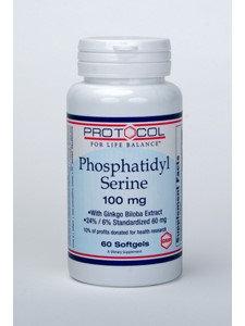 Phosphatidyl Serine 100 mg 60 gels by Protocol For Life Balance