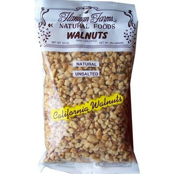 Flanigan Farms Natural Foods Walnuts Chopped, Raw, Unsalted 10oz (3 Pack)