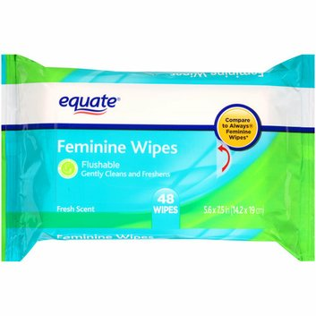 Equate Fresh Scent Feminine Wipes