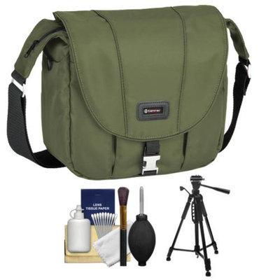 Tamrac 5423 Aria 3 Messenger Photo Digital SLR Camera Case / Bag (Moss Green) with Tripod + Accessory Kit