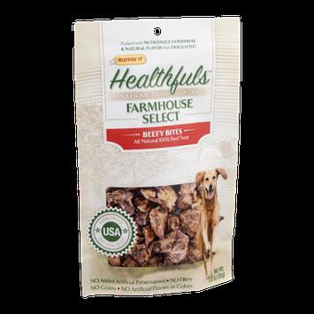 Ruffin' It Healthfuls Farmhouse Select Dog Treats Beefy Bites