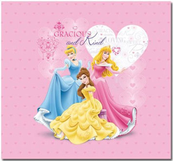 Sandylion Trends International Princess Glitter & Embossed Cover 12 Inch x 12 Inch Princess Postbound Album - sandylion
