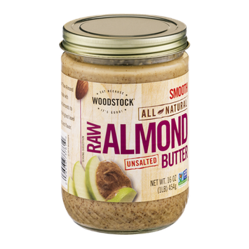 Woodstock Unsalted Raw Almond Butter Smooth