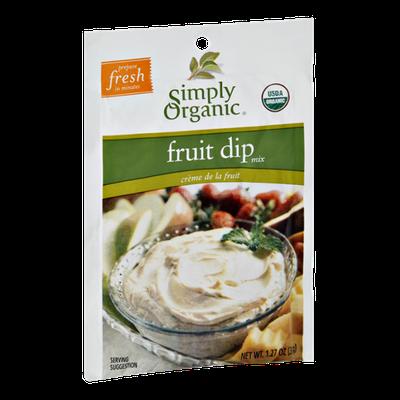 Simply Organic Fruit Dip Mix