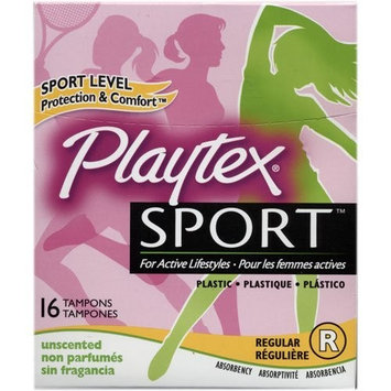 Playtex Sport Regular Tampons, Unscented 16 Ct