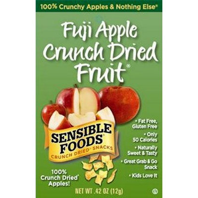Sensible Foods Fuji Apple Crunch Dried Fruit Snacks, Lunch box size, 0.42-Ounce (Pack of 24)