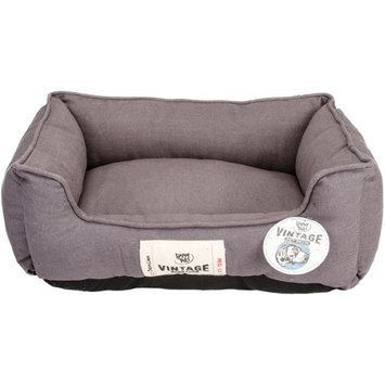 Happy Tails Denim Wash Cuddlier Dog Bed