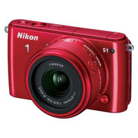 Nikon 1 S1 10.1MP Digital Camera with 11-27.5mm Lens - Red