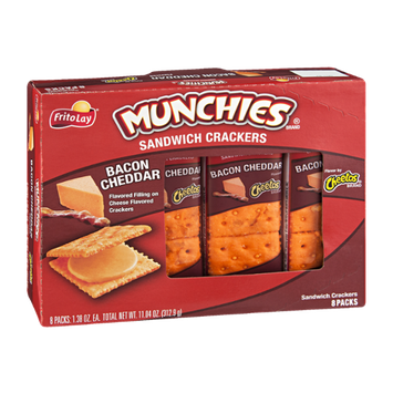 Munchies Sandwich Crackers Bacon Cheddar - 8 CT