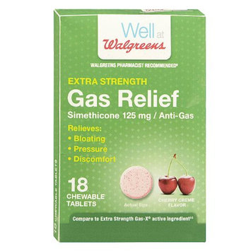 Walgreens Extra Strength Gas Relief Chewable Tablets