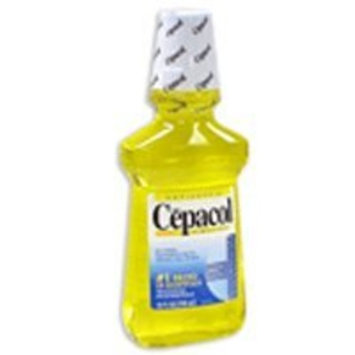 Combe Incorporated Cepacol Antibacterial Mouthwash and Gargle, Gold - 24 Oz