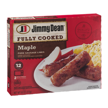 Jimmy Dean Fully Cooked Maple Pork Sausage Links - 12 CT