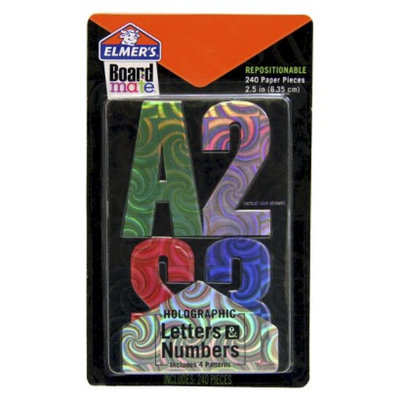 Elmer's Elmers Boardmate Accessory Letters and Numbers Holographic