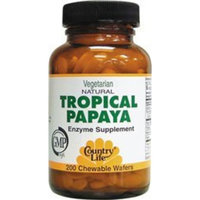 Natural Tropical Papaya Country Life 200 Chewable